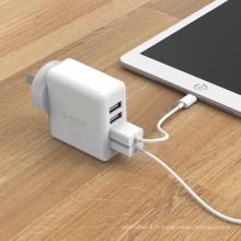 ORICO DCM-4U-AU 30W Chargeur mural USB 4 ports 5V2.4A, chargeur USB pour téléphone portable