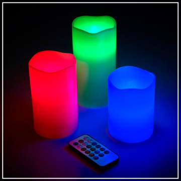 Remote Control Led dengan Lilin Flameless Multi Warna