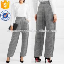 Широкие брюки хаундстут тканые брюки Производство Оптовая продажа женской одежды (TA3009P)