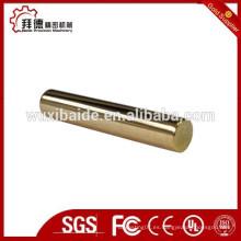 Piezas de acero chapado en oro Tornos CNC piezas de torneado Piezas de acero CNC
