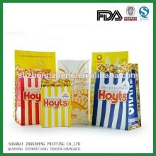Popcorn Bag Design Papper Bag Food Grade Paper Bag