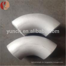 China codo del tubo de titanio de 90 grados apropiado para el uso industrial