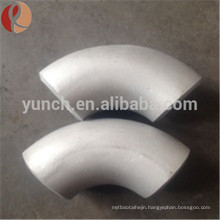 China 90 degree titanium pipe elbow fitting for industrial using