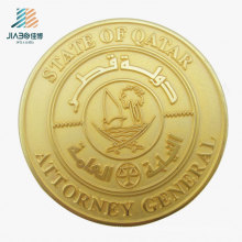 Best Sell Promotional Gift Matt Gold Zinc Alloy Coin for Souvenir