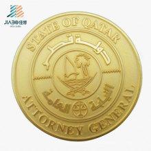 Best Sell Promotional Gift Matt Gold Zinc Alloy Coin for Souvenir
