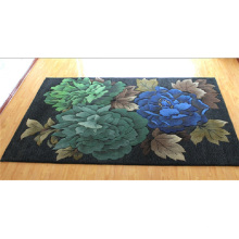 Luxury Hotel Decoration Flower Design Wool Carpet