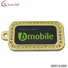Fashion Dog Tag Diamond Gold Dog Tags (LM1603)