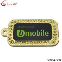 Fashion Dog Tag Diamond Gold Dog Tags (LM1603)