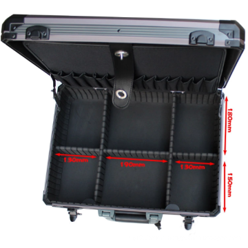 Customizable Multipurpose Aluminum Alloy Tool Box (450*330*145mm)