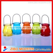 Fashion Style Mosaik Kerzenständer mit Eisen Stand