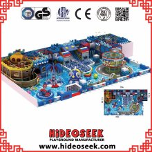 Pirate Ship Theme Children Indoor Playground with Climbing Tower
