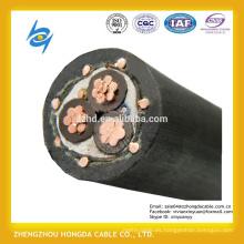Pantalla semiconductora de núcleo de aluminio un sexto cable de MV con conductor neutro concéntrico