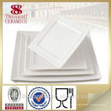 Tablas de cena de cerámica al por mayor de Chaozhou para los restaurantes, placa de porcelana barata