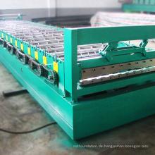 Fabrik fertigte die Metalldachblatt-Fertigwandplatte besonders an, die Maschine herstellt