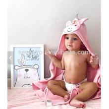 Serviette bébé avec capuche visage animal licorne cadeau personnalisé jusqu'à 1 an