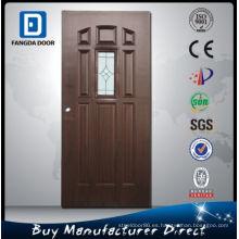 Fangda Glass Inserts Metal Steel Door