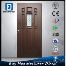 Fangda Glass Inserts Metal Steel Door