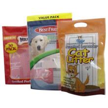 Sac plat de nourriture de chien de fond / sac en aluminium de nourriture d'animal familier / sac en plastique d'aliment pour animaux familiers