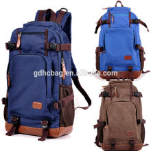 Travel Hiking Bag Canvas Leather Backpack Rucksack Camping School Satchel bags