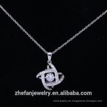 925 colgante de joyería de plata de ley hecha de latón