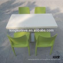 Mesa de café redonda personalizada y mesa de piedra de mármol
