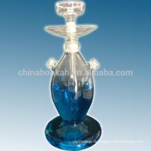 Bestes verkaufendes schönes klares Glas-Huka shisha / nargile / Wasserpfeife / hubbly sprudelnd mit guter Qualität und geführtes Licht