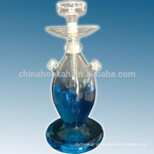 O tubo de água shisha / nargile / de água do bule de vidro claro o mais vendido / hubbly borbulhante com boa qualidade e luz conduzida