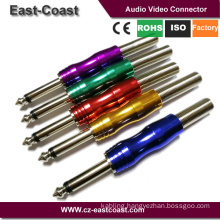 "New design colored 1/4"" 6.35mm Mono Audio Plug"