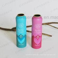 Lata de pulverizador de alumínio do aerossol do perfume da fragrância com corpo dado forma (PPC-AAC-010)
