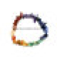 Piedra Semi Preciosa Cristal Natural Chakra Chips Beaded Bracelet