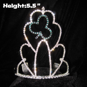 Wholesale Custom Crystal Clovers Shamrock Crowns