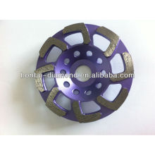 Steel welding wheel for concrete with 8 L shape segments