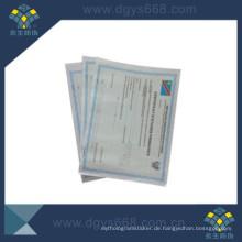 Sicherheit Watermak Zertifikatpapier mit Customerized Design