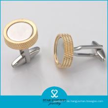 China Hersteller Großhandel Messing Metall Manschettenknöpfe (BC-0004)