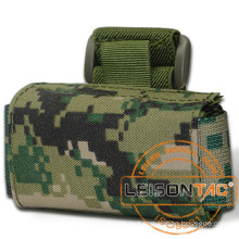 Tactical Wrist Pouch adopt high strength 1000D nylon with waterproof treatment