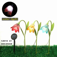 Decoración al aire libre de metal Solar Light Garden Stake Craft