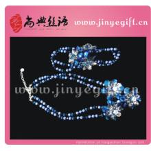 Jóias finas de Guangzhou elegante conjunto de jóias de zircão azul