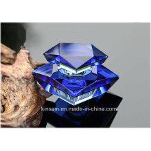Bouteille de parfum en verre de cristal de mode pour la décoration