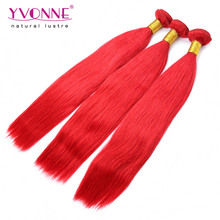 New Arrival Color Red Peruvian Human Hair Extension