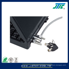 Serial port security cable lock for laptop