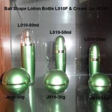 80ml bola forma emulsión prensa botella de 30ml 50ml