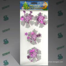 Decoración cristalina plástica clara del árbol de navidad de los 8cm