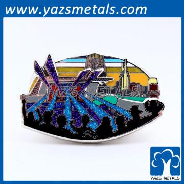 promotion de métal sur mesure badge en métal décoratif ornements de noel