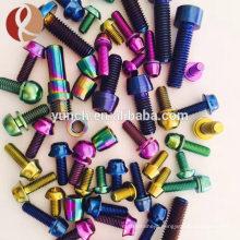 china manufacturer m2.5 titanium grade2 and grade5 anodized screw
