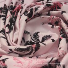 Tissu en coton tissé à impression lyocell Tencel 108 g / m2