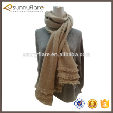 Newest Fashion Solid Color Knitted Tassel Cashmere Scarf
