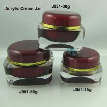 Vender forma del tarro de crema J051 serie cuadrado