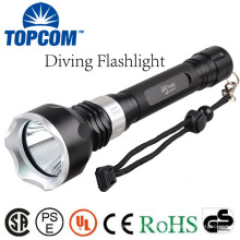 TOPCOM LED submarino de luz de buceo linterna antorcha subacuática impermeable T6 lámpara