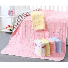 manta de bebé de jacquard de algodón de 6 capas útil