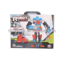 Rote und blaue pädagogische Bausteine Roboter